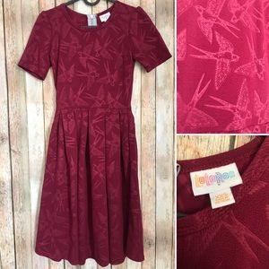 Lularoe XXS Amelia Swallows Berry colored Pockets